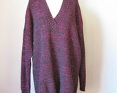 Slouchy Lurex Sweater / V...