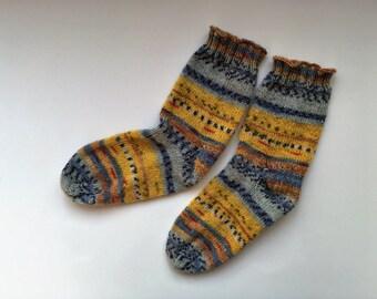 Women's handknit socks,wool knit socks,knit wool socks,Christmas gift for women