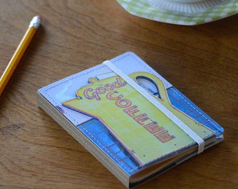 Upcycled Mini Journal- Coffee Edition