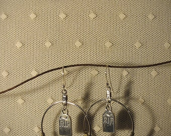 Rites #9 - Sterling Silver Headstones, Vintage Glass & Vintage Metal