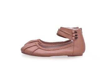 SALE. Sz. 8 & 9. MUSE. Leather shoes woman / ballet flats / flat shoes / leather flats / womens shoes size 8 / shoes flats / shoes handmade