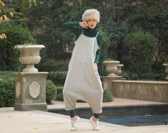 grey stripe dress wool maxi dress pants---a pants a dress black grey linen dress