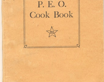 P E O Cookbook Philanthropic Ed Org 1930s Women Helping Women