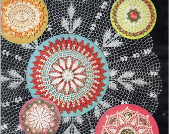 """Book*** Vintage Crochet Patterns """"Doilies"""" - from American Thread Company, Star Book No. 151"""