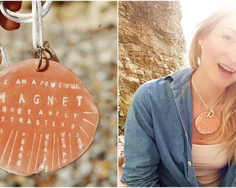 Personalized Quote Necklace - Custom Stamped Positive Affirmation