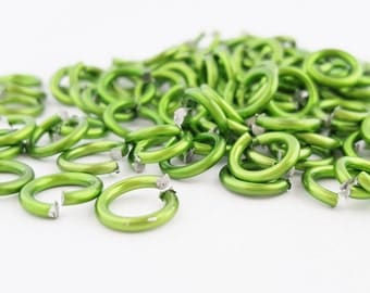 Green Jump Rings   10mm Anodized Aluminum   Jewelry Making   Chainmaille   Crafts   Scrapbook   Kid Crafts   The Blue Hutch