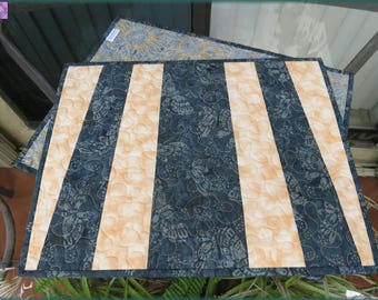 Quilted Placemats Butterfly Batik 455