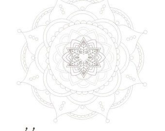 Jewish Star Mandala-Passover Coloring Page-1 Printable Design-Star of David Crafts  Arts Supplies-Magen David-INSTANT DOWNLOAD by @zebratoys