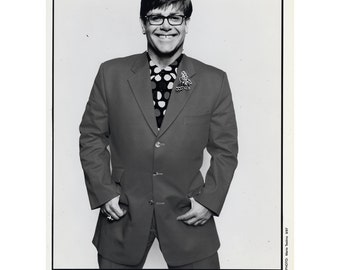 Elton John Publicity Photo 8 by 10 Inches B&W