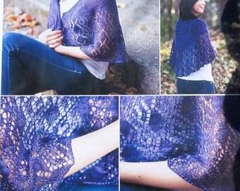 Rivoli Shawl knitting pattern, pattern only, by SweetGeorgia Yarns made with Merino Silk Lace yarn, Shawl pattern