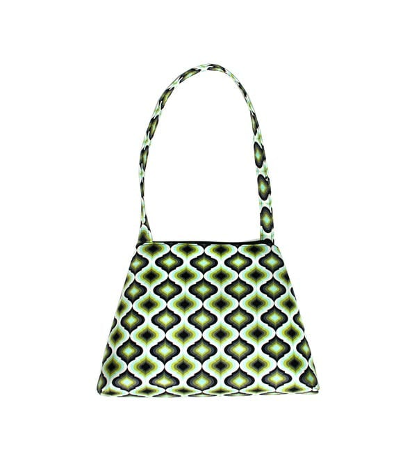 Green, geometric, op art, retro style, tall Retro
