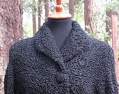 Small Medium Harzfeld's Persian Lamb Black Boucle Coat/Rare Black Sheep Coat/Black Lamb Short Ladies Vintage Jacket/Harzfeld's Kansas City