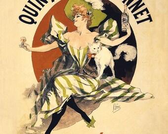 Art Nouveau Cat - Art Nouveau Print - Cat Art - Art Nouveau Advertisment - Cat Picture - Art Nouveau - Cat Gift