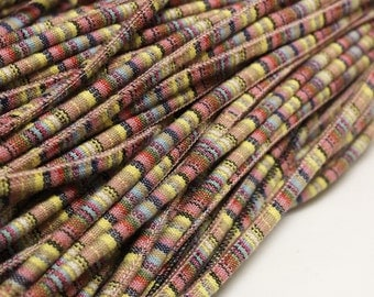 3 Meters Ethnic Fabric Cord, Striped Textile Cord for Jewelry Making