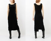 Vintage Jacqueline De Young Collection Black Velvet Sleeveless Dress XL