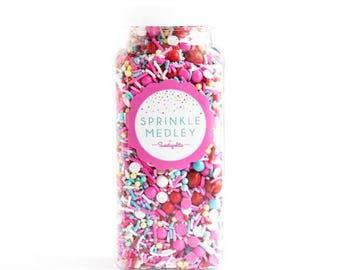 Sweetapolita Sprinkles Medley- Cherry on Top 8oz. (Net wt. 5.8oz.)