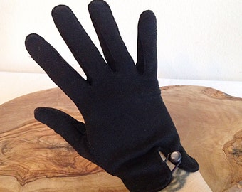 Vintage Black Ladies Gloves Mid Century Mad Men