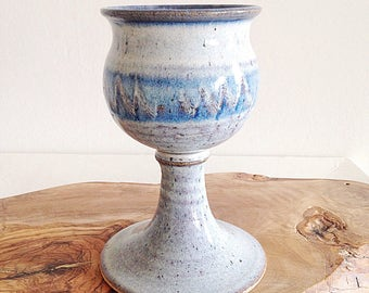 Handmade Pottery Chalice Goblet