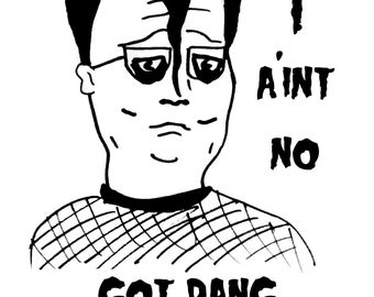 "Hank Hill ""Hankzig"" King of the Hill Danzig parody T Shirt"