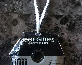 Christmas Ornaments Handmade -Foo Fighters- Christmas Decoration, Upcycled Recycled Repurposed, Birthday, Home Decor Wall Art, Home Decor