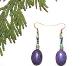 Purple Turquoise jewelry - Kingman Turquoise Jewelry - Purple Turquoise earrings - Purple earrings - Southwestern style - Boho Jewelry, Boho