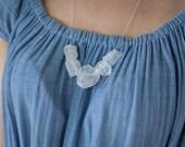 Raw Clear Quartz Necklace...