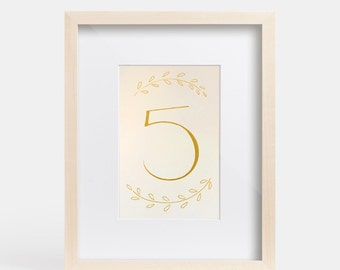 Hand Drawn Calligraphy Table Numbers for Wedding, Dinner Party, Bridal or Baby Shower