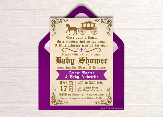 once upon a time baby shower invitation printable fairytale shower