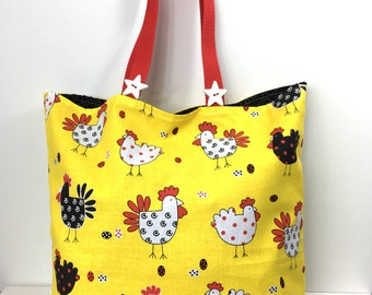 The Barnyard Bunch Market Diva Bag - Shopping Bag - Farmer's Market Tote