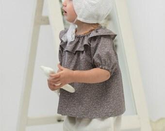 Christening hat Baptism hat Baby girl bonnet Cotton embroidered bonnet Baby sun bonnet Baptism bonnet Toddler bonnet Baby sun hat