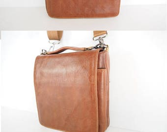 Leather Satchel Bag,Small Leather Bag,Brown Leather Satchel,Leather ipad mini bag,leather handbag,small leather vertical bag,crossbody bag