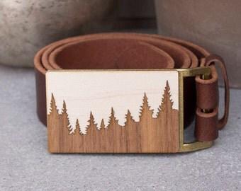 Pine Tree Belt Buckle, Wood Belt Buckle, Forest Belt Buckle, Men's Belt Buckle, nature lover gift, Forest, Nature gift, gift for boyfriend