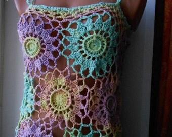 Top Crochet Top Crop Top Bikini Top Beach Top Halter top FREE SHIPPING