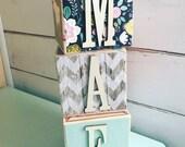 Letter Blocks - Name Blocks - Nursery Decor
