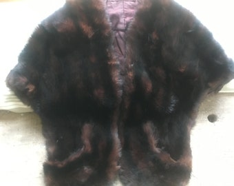 Beautiful Soft Vintage Real Fur Stole