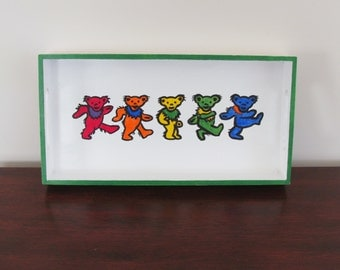 Grateful Dead Dancing Bears Tray - Multicolor