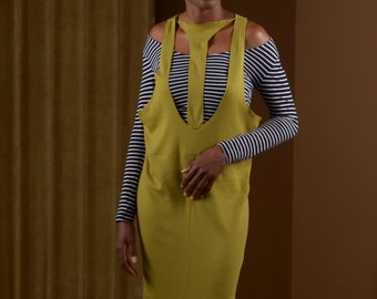 Olive Harness Jumper Dress