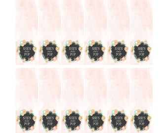 DIY Printable Tic Tac Baby Shower Labels