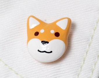 Shiba Inu Pin - Dog Brooch - Polymer Clay Pin - Shiba Inu Brooch - Dog Pin - Dog Lover - Shiba Inu Accessory