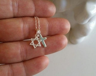 Star of David necklace ,Sterling Silver  Magen David,gift for him, Jewish, Hebrew Jewelry ,judaica