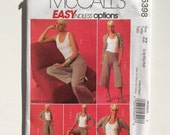 McCall's M5398, Women's Shrug Jacket, Scoop Neck Top, Shorts, Pants Pattern, Easy Pattern, Plus Size Pattern, Uncut, Size Lrg, Xlg, Xxl