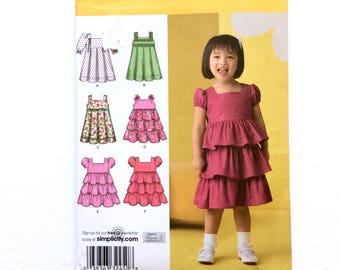Simplicity 2709, Toddler Girls' Dress Pattern, Infant Dress, Size 1/2, 1, 2, 3, 4, Uncut Pattern