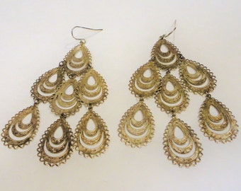 Silver 925 Chandelier Earrings  Vintage Ear Wires 7.2 Grams