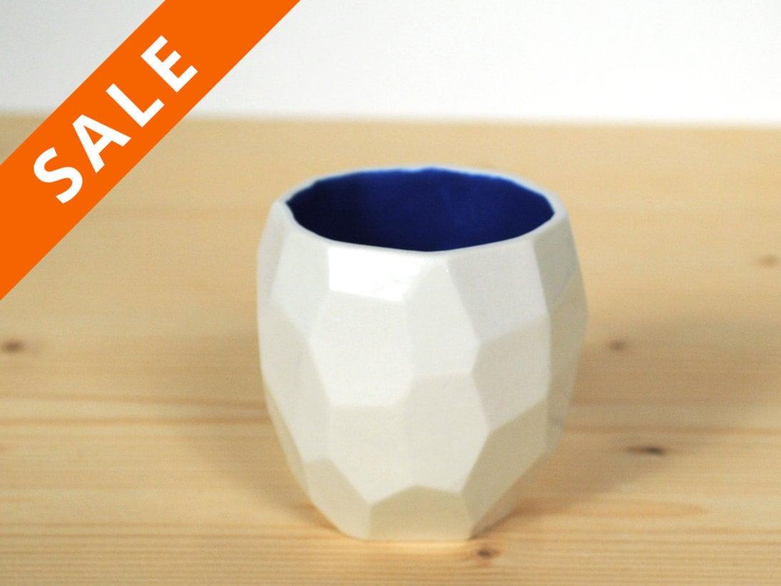 Modern ceramic espresso cup handmade in polygons espresso - Funky espresso cups ...