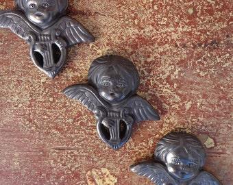 Oaxacan Mexico Black Folk Art Pottery Little Angels