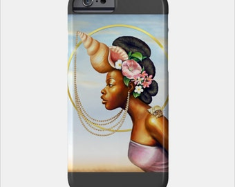 Cancer iPhone Case African American Goddess Black Girl Magic Afrofuturism by Sheeba Maya