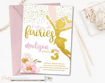 Fairy Invitation Etsy