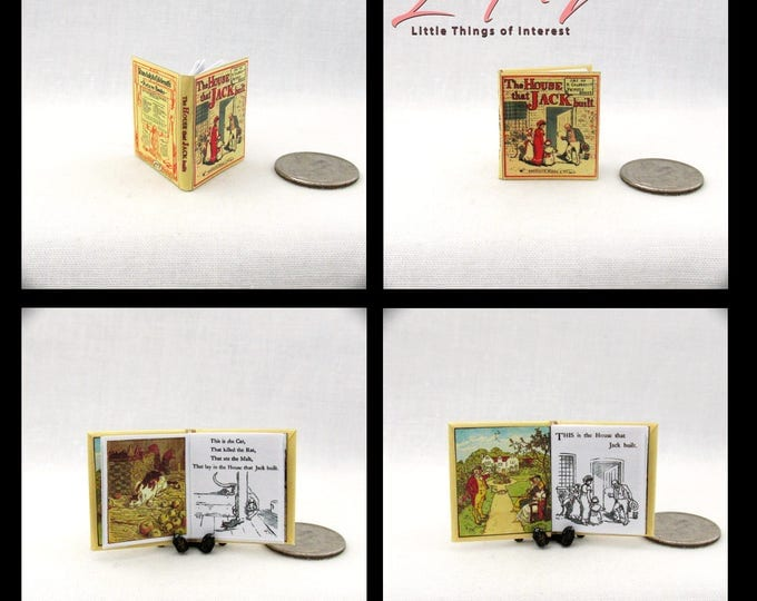 Miniature Book The HOUSE That JACK BUILT Dollhouse Miniature Book 1:12 Scale Readable Illustrated Queen of Hearts Sing a Song for Sixpence