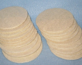 Loofah  Complexion Pads -Round Facial Pads - Loofahs Discs,  Exfoliation Complexion Discs.