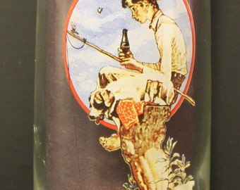 Norman Rockwell Coca-Cola Glass